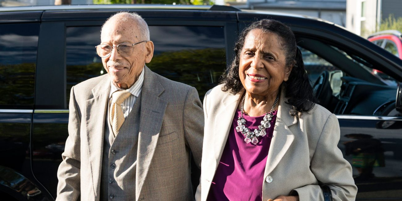 Edmund Carleton Brown Sr. and Pearl Anderson Brown honored at the Community Brotherhood Club on Friday for their years of service to the Lynn community. (Spenser R. Hasak, 2017)